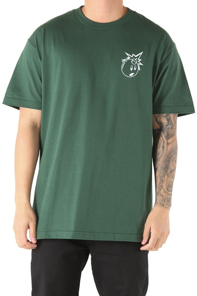 The Hundreds Forever Simple Adam Tee Forest Green