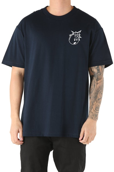 The Hundreds Forever Simple Adam Tee Navy