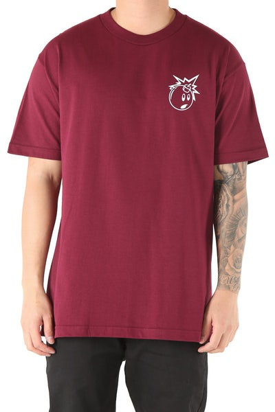 The Hundreds Forever Simple Adam Tee Burgundy