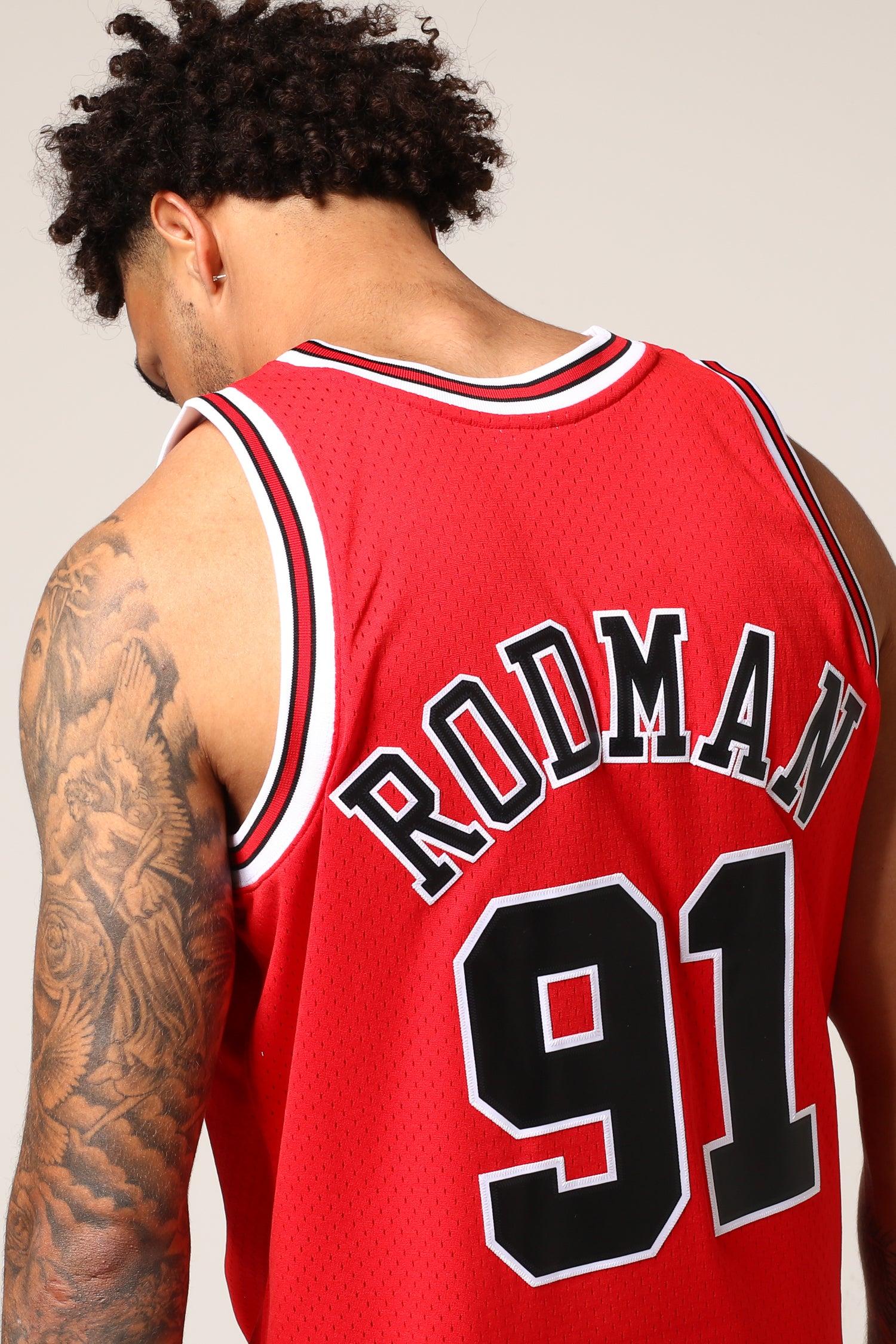 NEW Chicago Bulls #91 Dennis Rodman Retro Swingman Basketball Jersey White