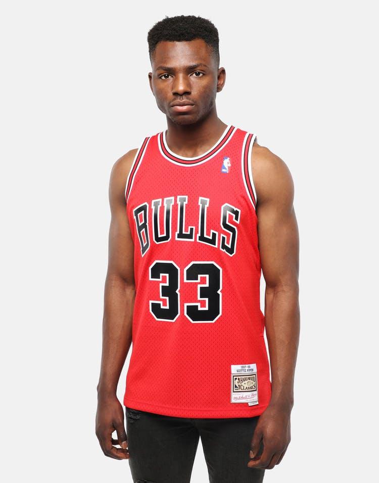 info for 71db3 11ba3 Mitchell & Ness Chicago Bulls Scottie Pippen #33 Swingman Jersey Red/Black