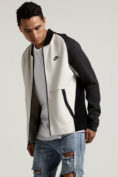 Nike Tech Fleece Varsity Jacket Black/Bone/Black