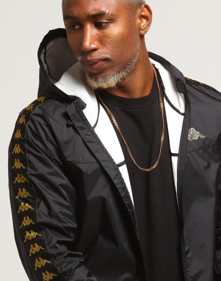 77065c098a Kappa Banda Dawson Jacket Black/Gold