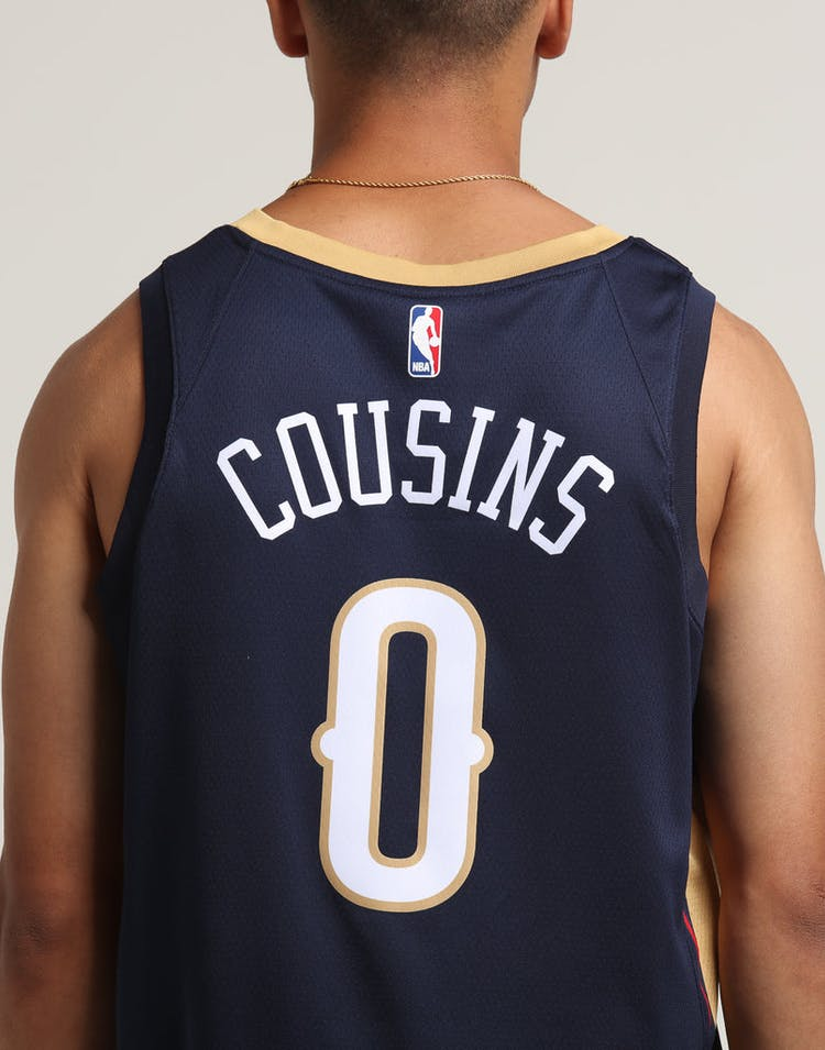 best website 80a62 94a67 DeMarcus Cousins  0 New Orleans Pelicans Nike Icon Edition Swingman Jersey  Navy Gold