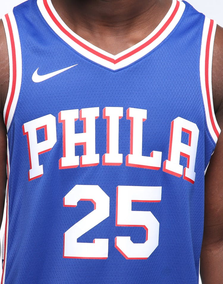 timeless design bde0a 81ff8 Ben Simmons #25 Philadelphia 76ers Nike Icon Edition Swingman Jersey  Blue/White/Red