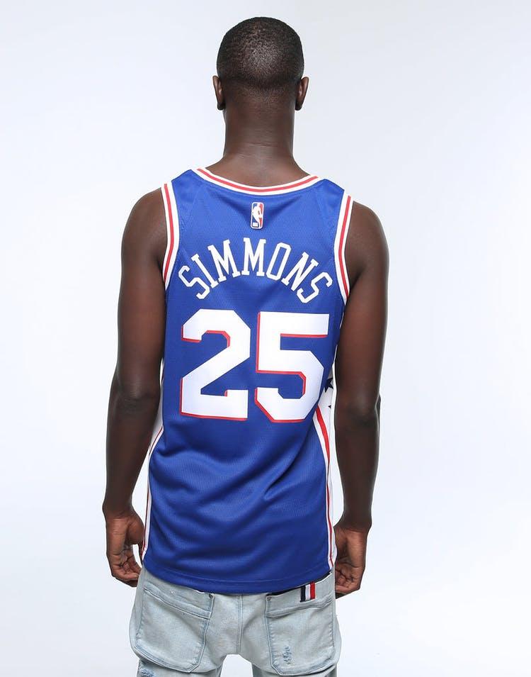 timeless design c0752 e4cd5 Ben Simmons #25 Philadelphia 76ers Nike Icon Edition Swingman Jersey  Blue/White/Red