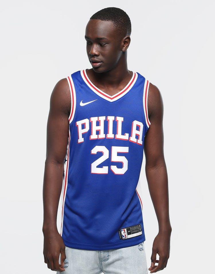 timeless design cdc94 71ed3 Ben Simmons #25 Philadelphia 76ers Nike Icon Edition Swingman Jersey  Blue/White/Red