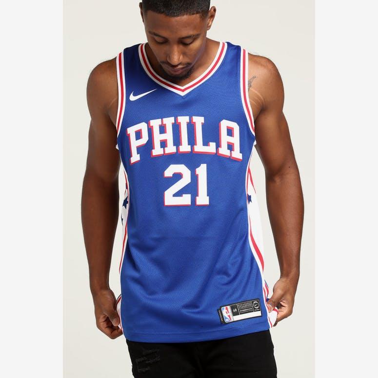 996cd2439 Joel Embiid  21 Philadelphia 76ers Nike Icon Edition Swingman Jersey B –  Culture Kings