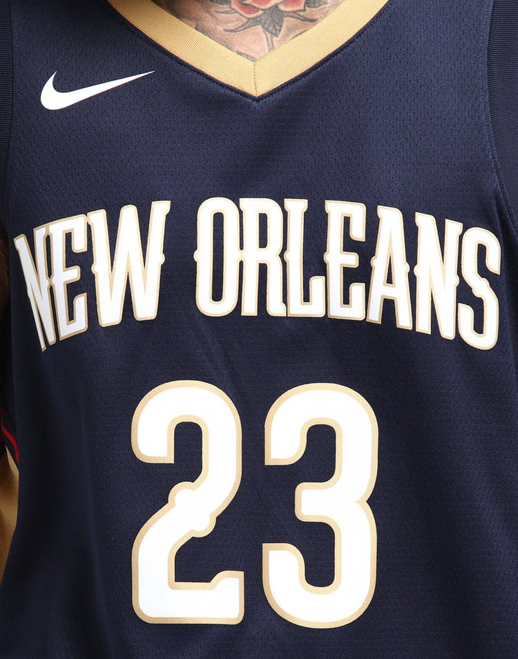 sports shoes 04472 ba732 Anthony Davis #23 New Orleans Pelicans Nike Icon Edition Swingman Jersey  Colour Navy/Gold
