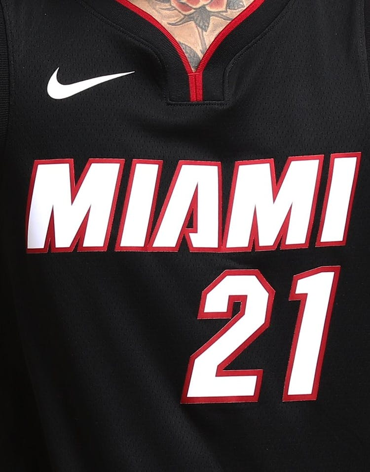 newest bf582 69496 Hassan Whiteside #21 Miami Heat Nike Icon Edition Swingman Jersey Black/Red