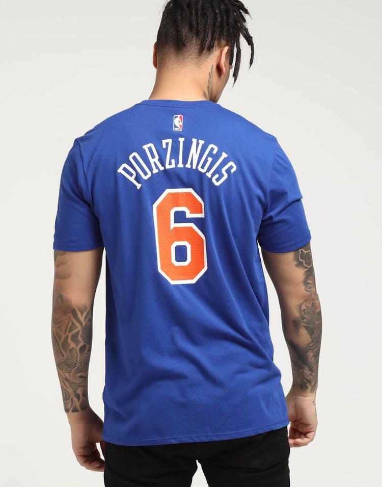 best service 7ba93 17435 Kristaps Porziņģis New York Knicks Nike Dry Tee Blue