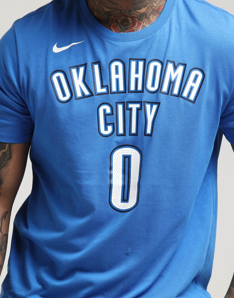 86aa5ac60cb Russell Westbrook Oklahoma City Thunder Nike Dry Tee Blue – Culture ...
