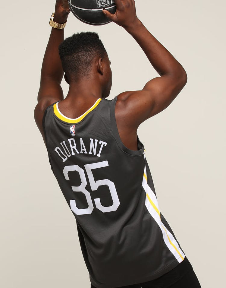 93ce0075746 Nike Golden State Warriors #35 Kevin Durant Alternate Swingman Jersey –  Culture Kings
