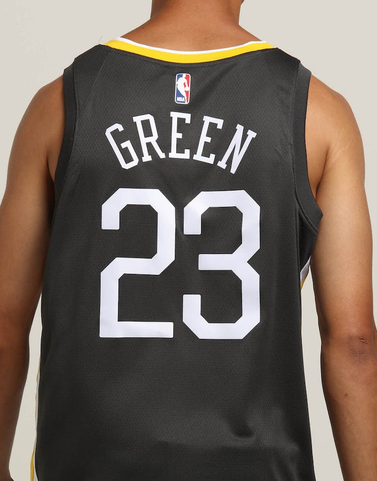 best sneakers 12a18 c0c1d Nike Golden State Warriors #23 Draymond Green Statement Edition Swingman  Jersey Grey/White/Yellow