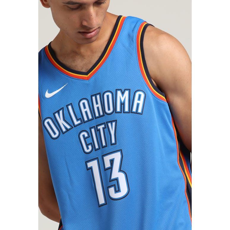 buy popular 54b44 f74ee Paul George #13 Oklahoma City Thunder Nike Icon Edition Swingman Jersey  Blue/Navy