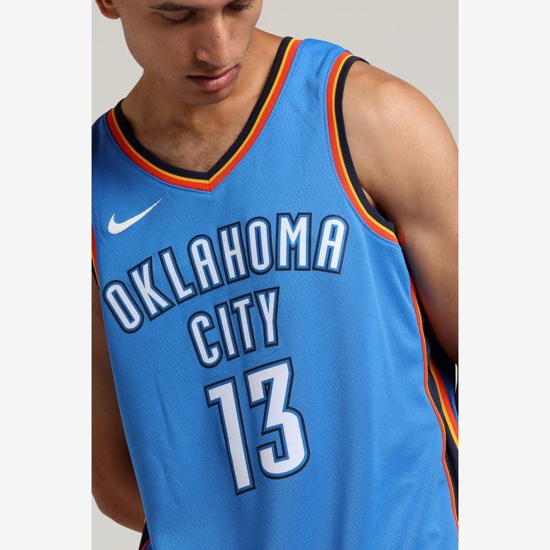 70e938390 Paul George  13 Oklahoma City Thunder Nike Icon Edition Swingman Jerse –  Culture Kings