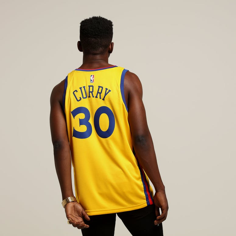 90df9de75 Nike Golden State Warriors  30 Stephen Curry City Edition Swingman Jersey  Yellow