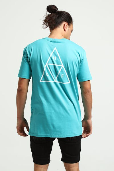 HUF Essentials Triple Triangle Tee Tropical Green