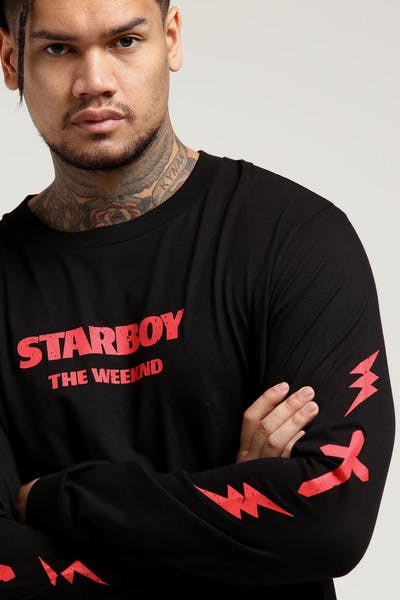 The Weeknd Starboy Symbol Long Sleeve Tee Black d02a9604d