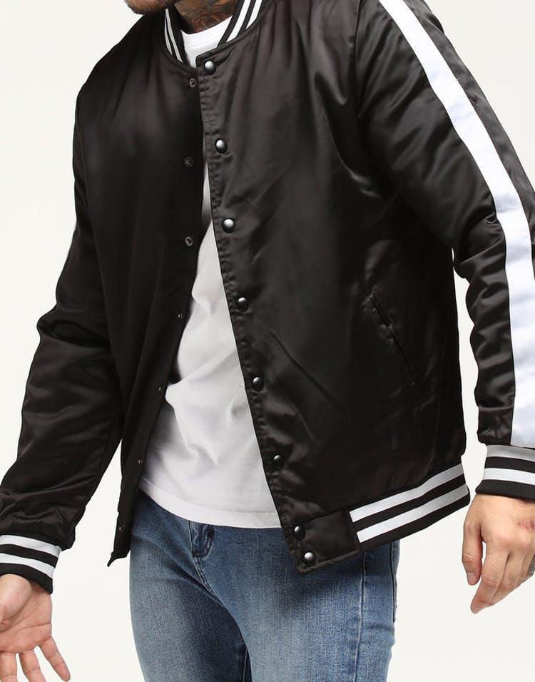 New Slaves Varsity Bomber Jacket Black/Grey