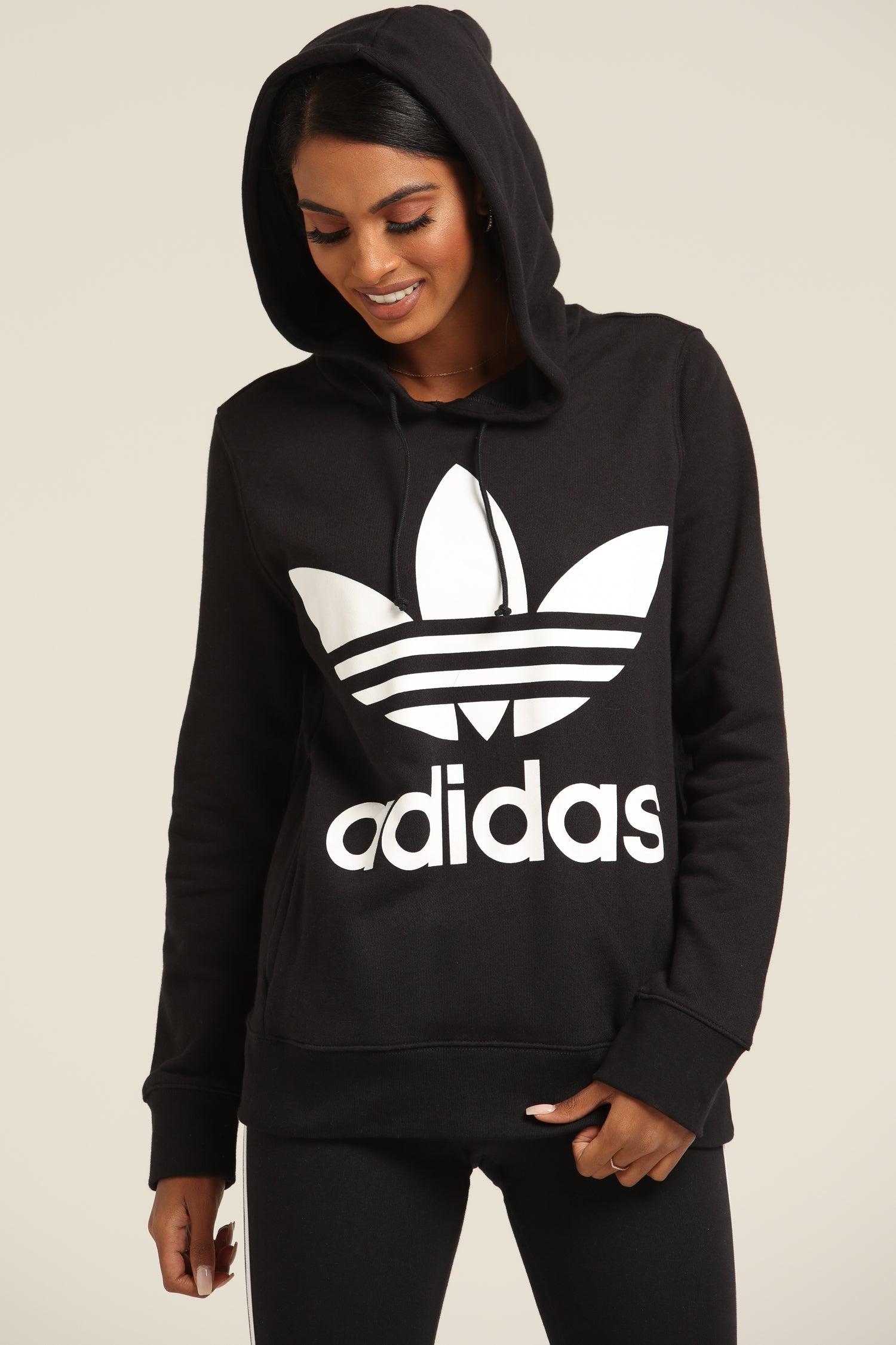 adidas Trefoil Sports Hoodie for Women Black