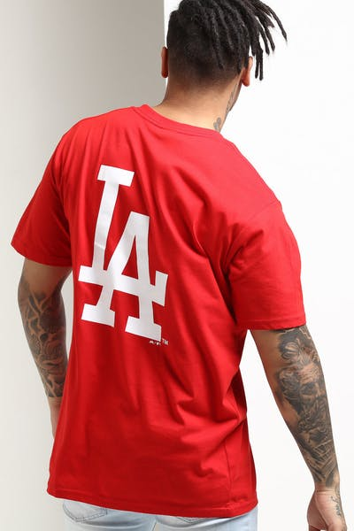 001363a48b8 Majestic Athletic Los Angeles Dodgers Jeaner Tee Red White