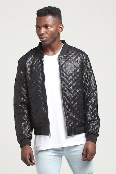 New Slaves Diamond Bomber Jacket Black