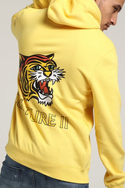 Migos Tiger Head Hoodie Yellow