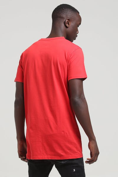 Well Made Legacy Tall Tee Red Acid Wash