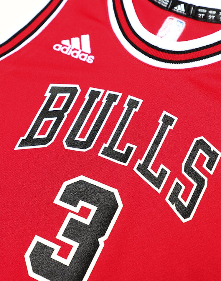 new concept 2cb2d 5e39f Adidas Toddler Chicago Bulls Jersey Dwyane Wade #3 Red