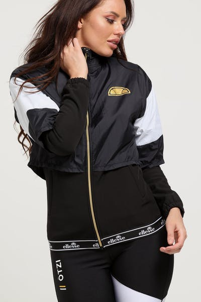 37210579b84 Ellesse Women s Gianduiotto Overlayed Jacket Anthracite