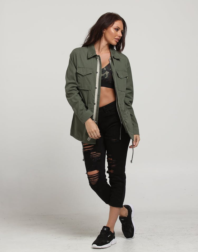 Alpha Industries Women's Revival Field Coat Olive