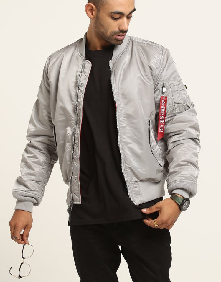 a7ae41ed0aa13 Alpha Industries MA-1 Slim Fit Flight Jacket Silver – Culture Kings