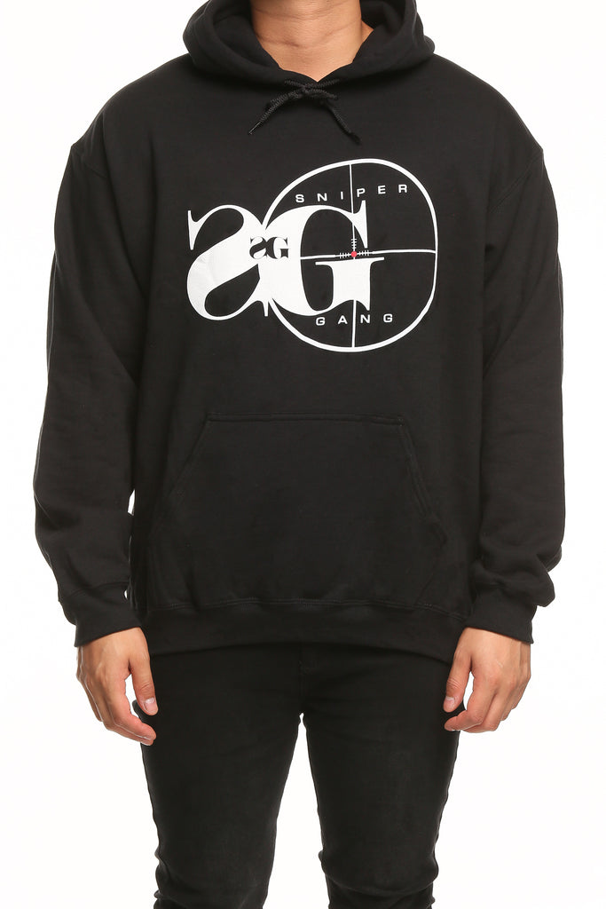 Top Sniper Gang Logo Hoodie Black