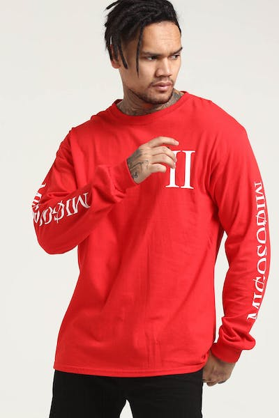 Migos Culture Columns L/S Tee Red