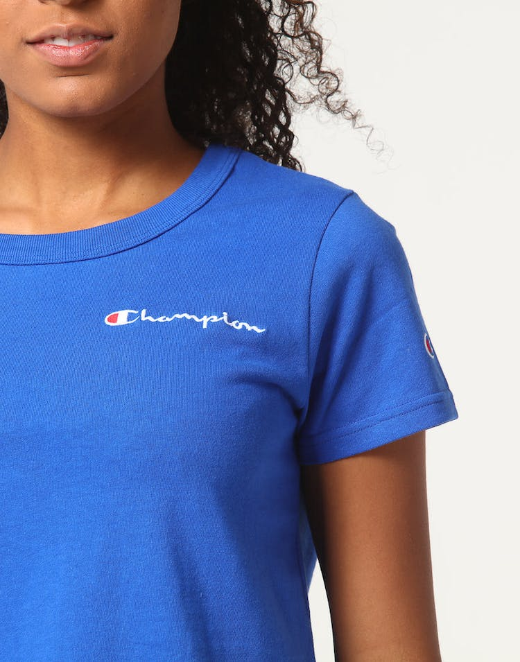 f18ebeca7 Champion Women's Cropped Tee Blue – Culture Kings