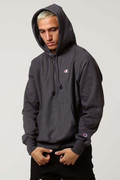 Champion Rev Weave Hoodie Granite Heather