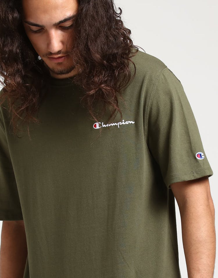 7c4f947c Champion Heritage Tee Emb Script Forest Green – Culture Kings