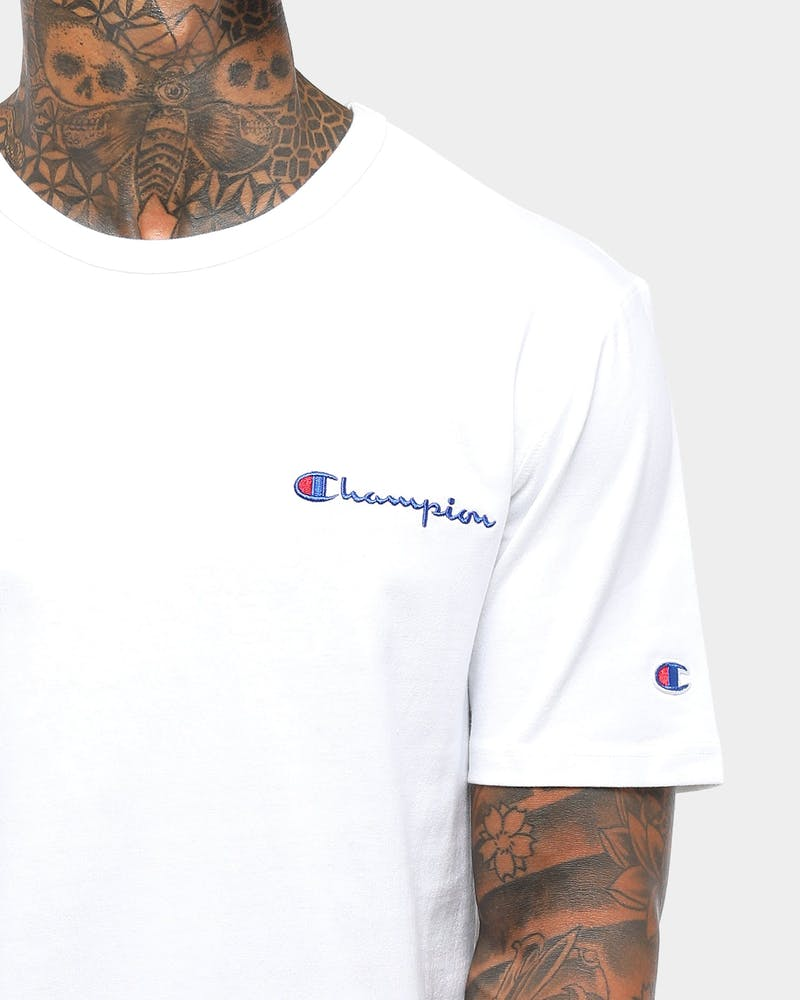 Champion Heritage Embroidered Script T-Shirt White