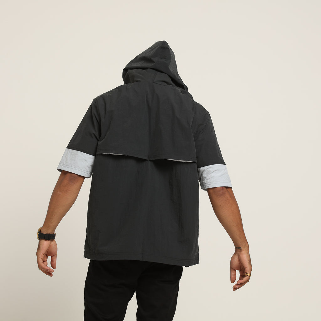Champion Woven Anorak Short Sleeve Jacket BlackGrey