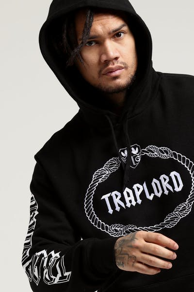 Traplord Embroidered Hood Black