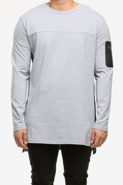 Emperor Apparel Sportstech Long Sleeve T-Shirt Grey