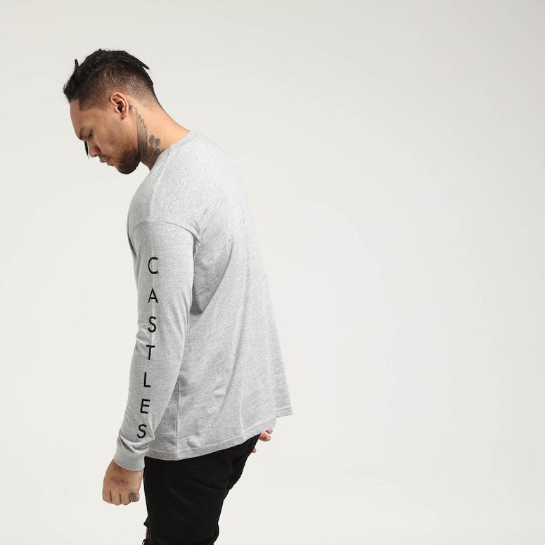 Crooks & Castles Ghostin Knit LS Tee Heather Grey
