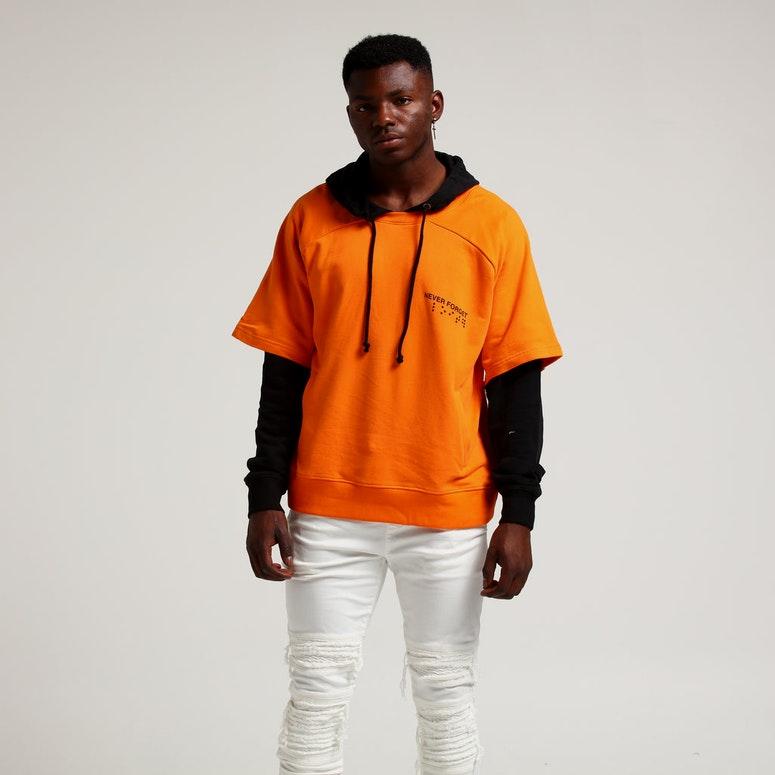 Loiter NYC Stencil Hoodie Orange/Black