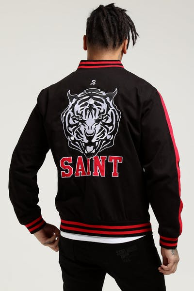 Saint Morta Tigers Varsity Jacket Black/Red