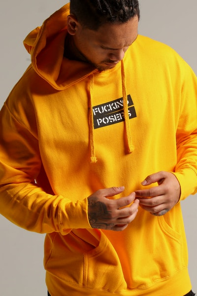 Los Angeles RadYo! Fxcking Posers Hoodie Gold
