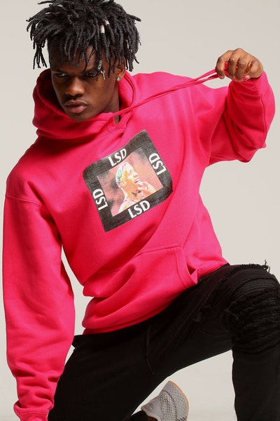 Los Angeles RadYo! LSD Hoodie Hot Pink