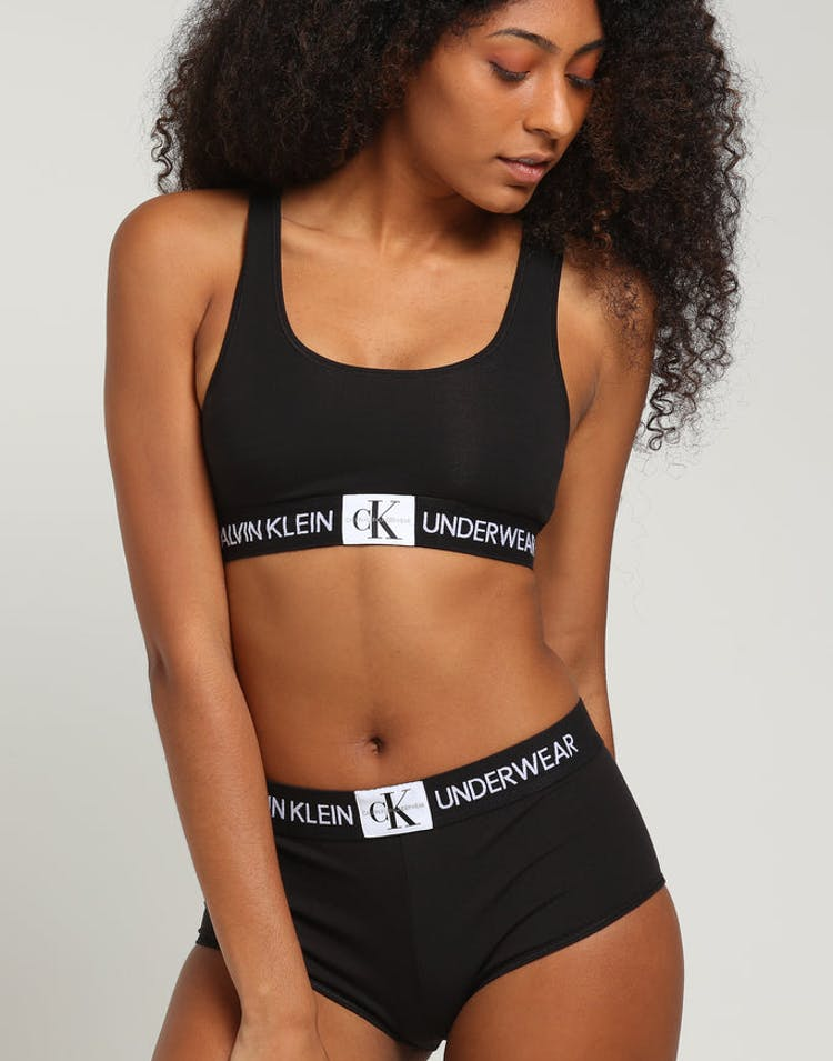 f82e1338f9829 Calvin Klein Monogram UL Bralette Black – Culture Kings