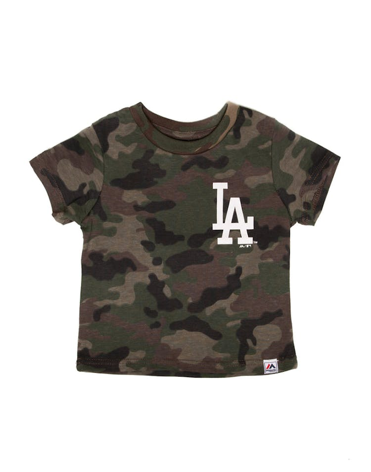 d6d84920 Majestic Athletic Toddler Los Angeles Dodgers Team Logo Tee Camo/White