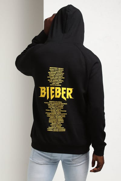 Justin Bieber Stadium Tour Hoodie Black/Yellow